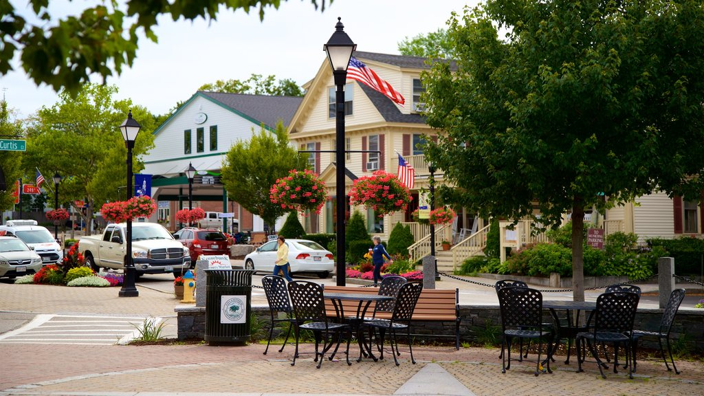 Kennebunk which includes a garden, flowers and a small town or village
