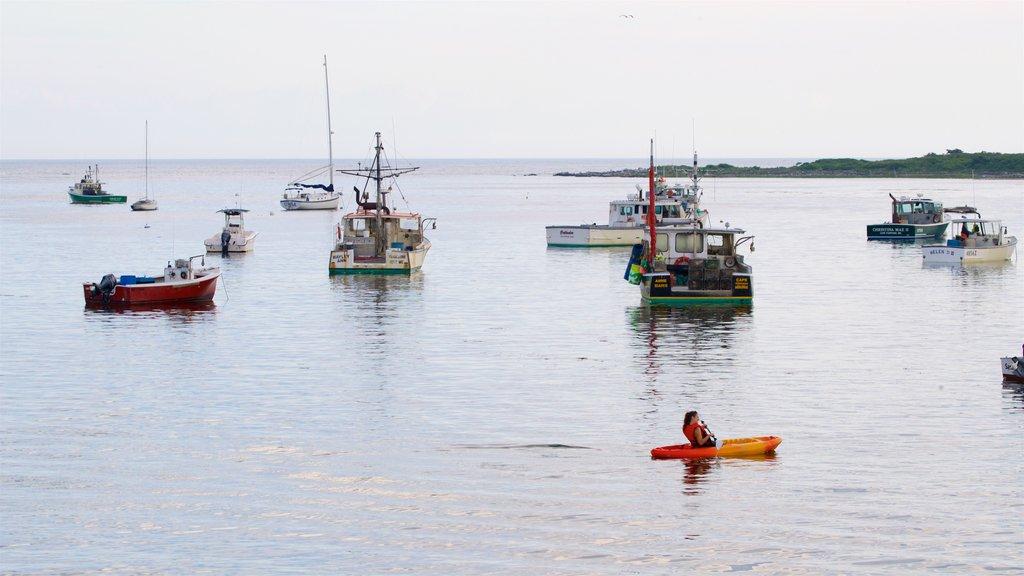 Cape Porpoise que incluye una bahía o puerto y vistas generales de la costa
