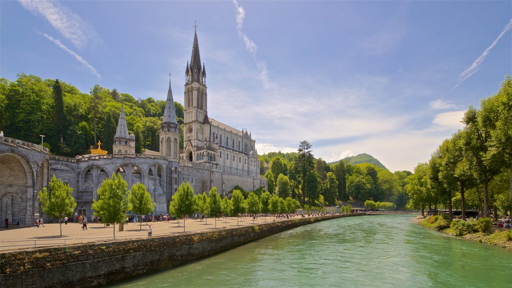 Notre-Dame de l\'Immaculee-Conception which includes a church or cathedral, a river or creek and heritage architecture