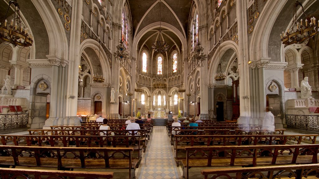 Notre-Dame de l\'Immaculee-Conception showing a church or cathedral, interior views and heritage elements