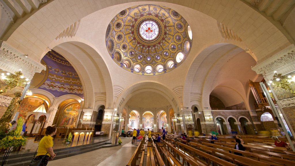 Rosary Basilica featuring interior views, a church or cathedral and heritage elements