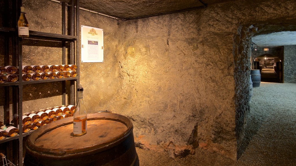Marche Aux Vins Winery featuring drinks or beverages, heritage elements and interior views