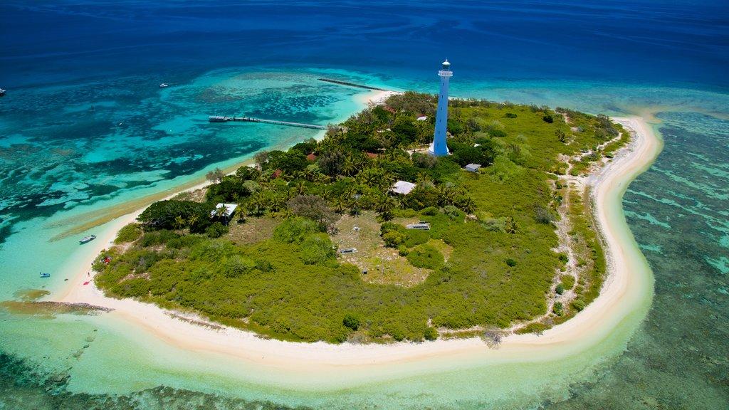 Numea mostrando un faro, imágenes de una isla y vistas generales de la costa