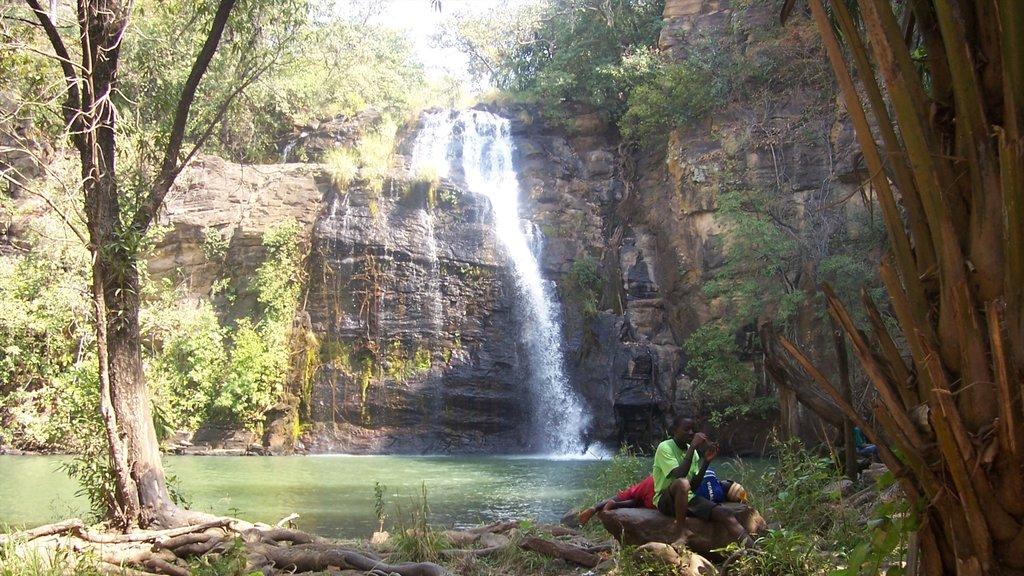 Abomey mostrando una cascada