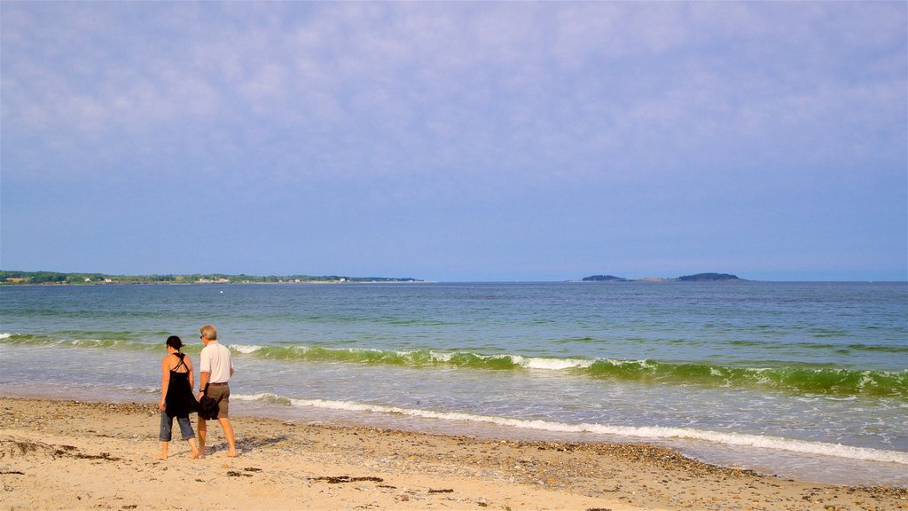 Scarborough Beach State Park featuring a beach and general coastal views as well as a couple
