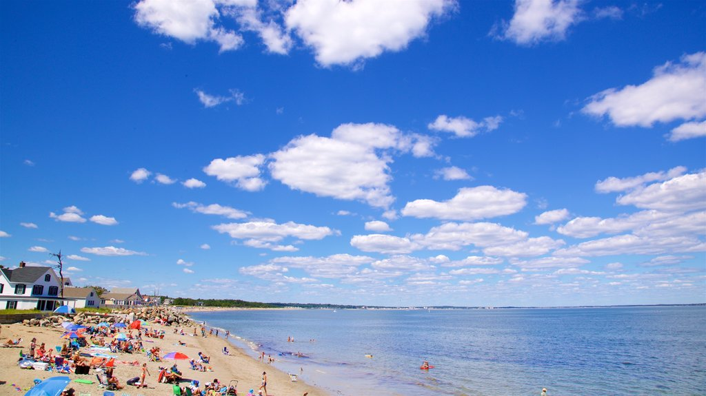 Saco featuring a beach, general coastal views and a coastal town