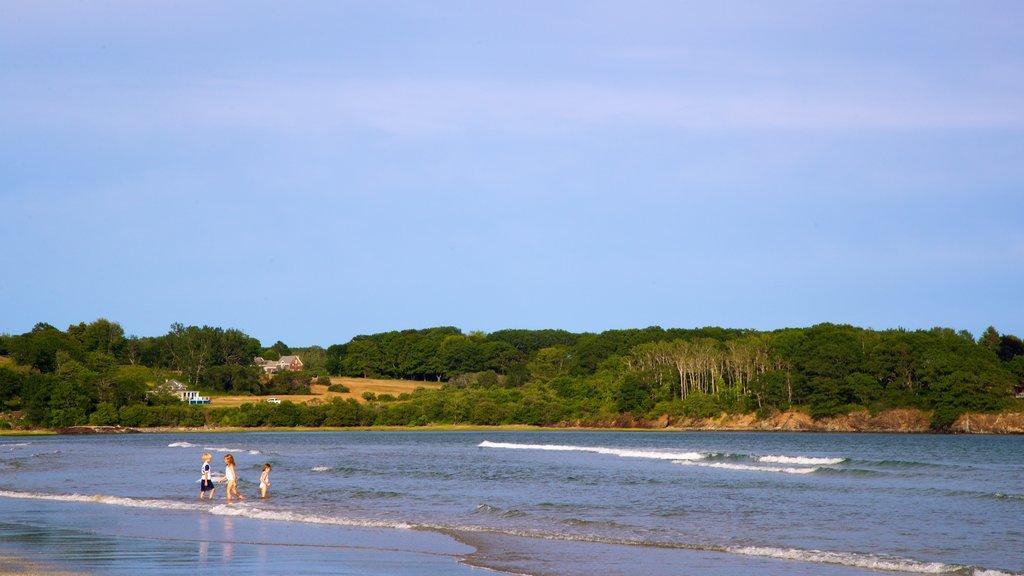 Higgins Beach which includes general coastal views as well as children