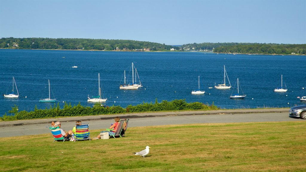 Eastern Promenade which includes a park and general coastal views as well as a small group of people