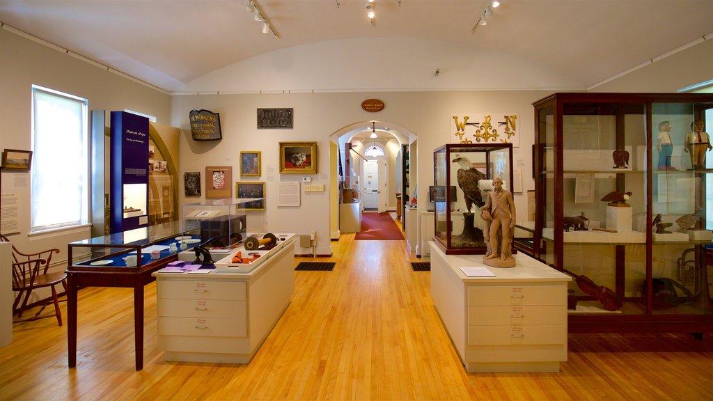 Saco Museum showing interior views