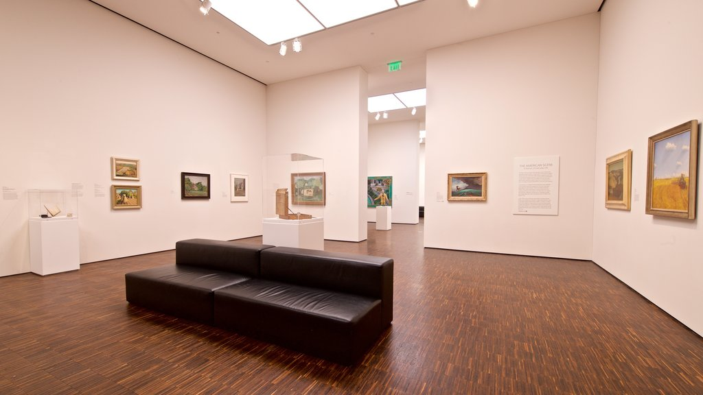 Figge Art Museum showing art and interior views