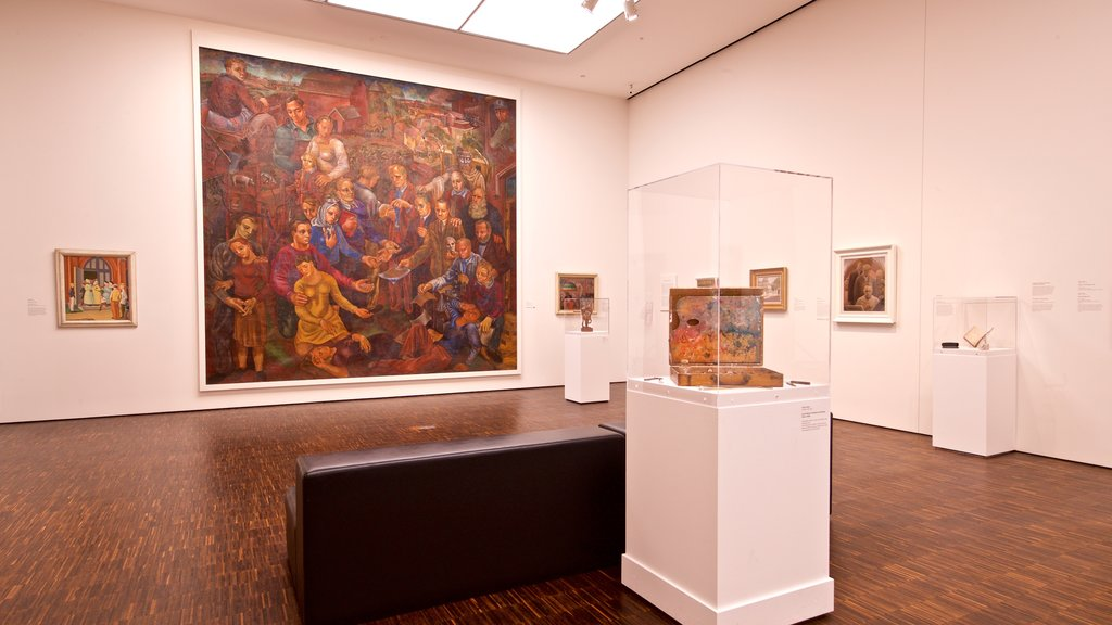 Figge Art Museum showing interior views and art