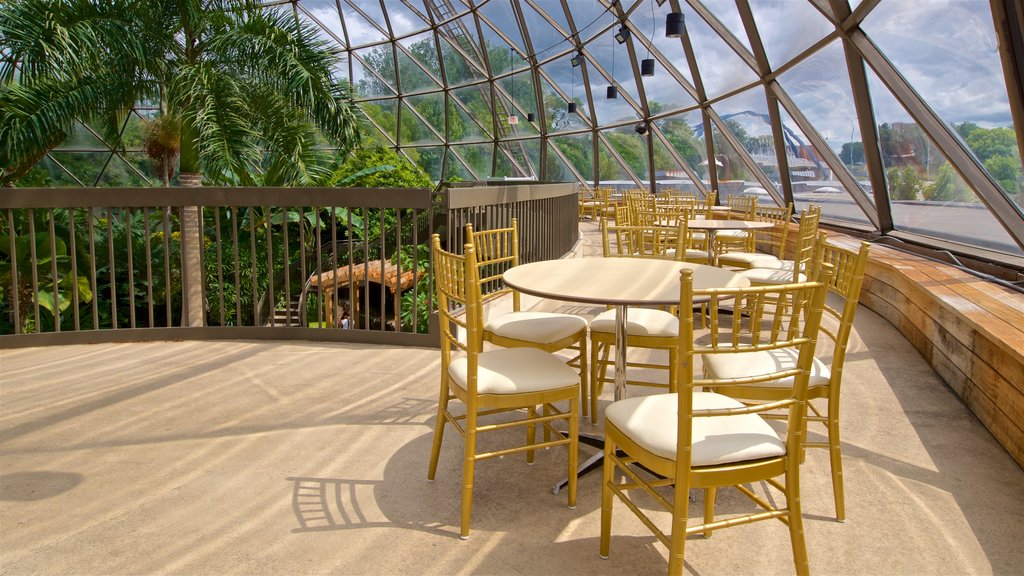 Des Moines Botanical Center featuring interior views and a park