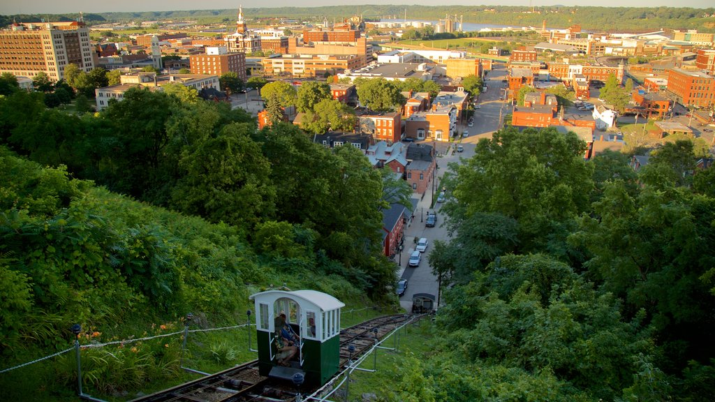 Fourth Street Elevator which includes landscape views, a small town or village and a gondola