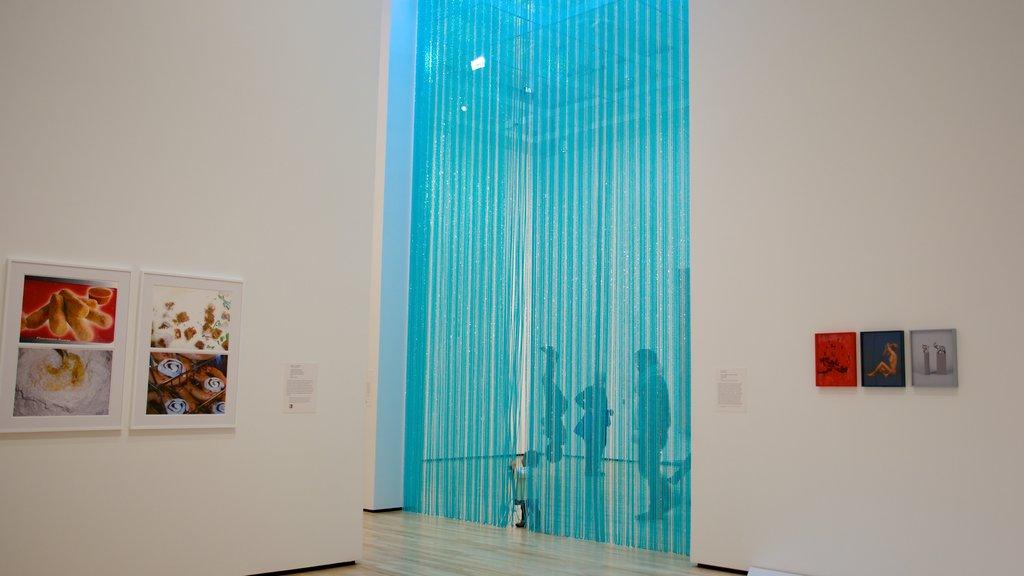 Baltimore Museum of Art que incluye arte y vistas interiores