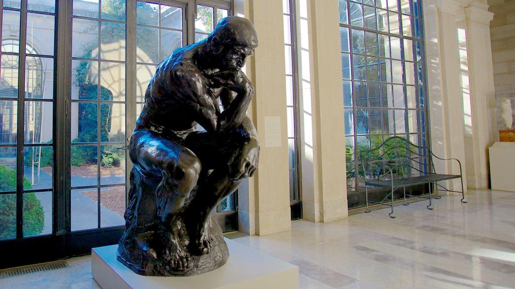Baltimore Museum of Art que incluye una estatua o escultura, vistas interiores y arte