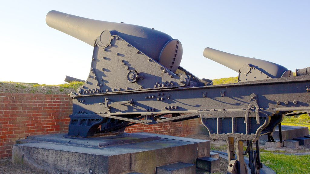 Fort McHenry showing military items