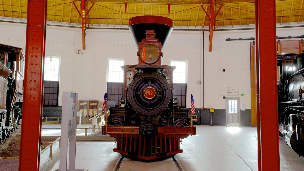 B&O Railroad Museum showing railway items and interior views