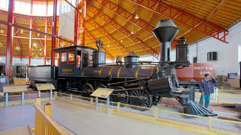 B&O Railroad Museum featuring interior views and railway items