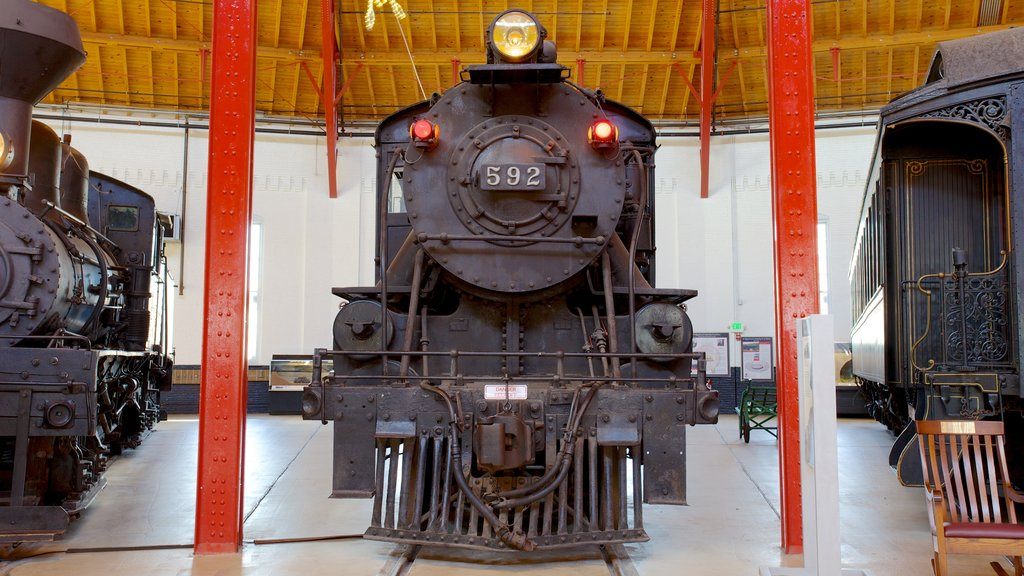 B&O Railroad Museum which includes interior views and railway items