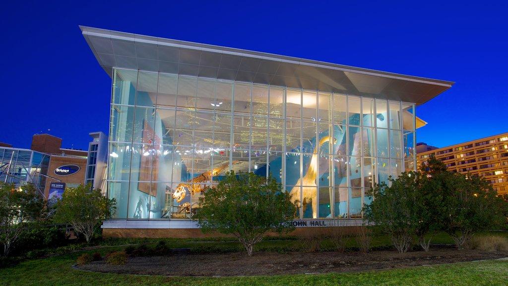 Maryland Science Center que incluye escenas nocturnas y una ciudad