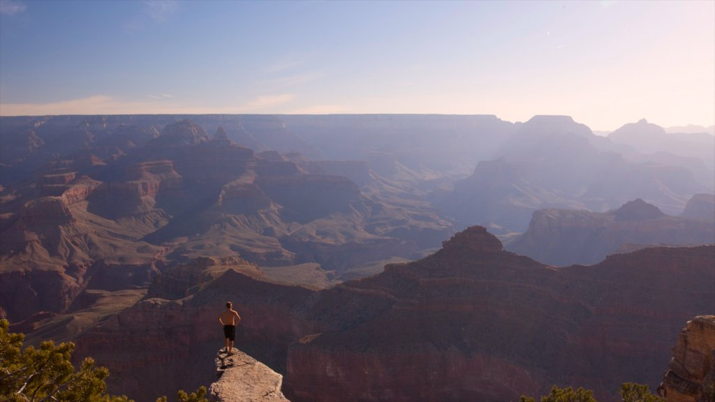Grand Canyon featuring hiking or walking, landscape views and a gorge or canyon