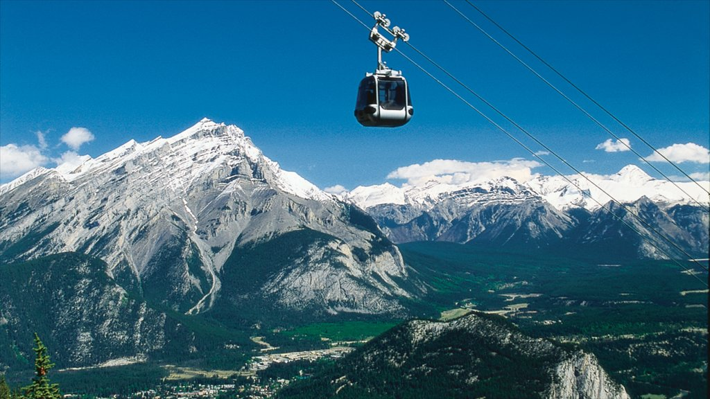 Banff Gondola which includes mountains, snow and landscape views