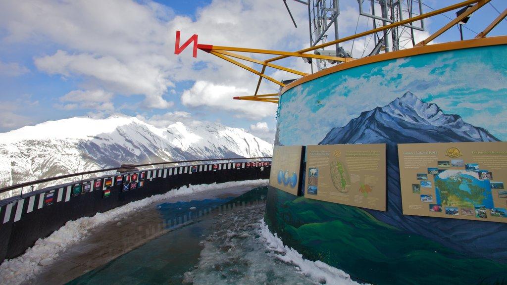 Banff Gondola featuring a gondola, snow and landscape views
