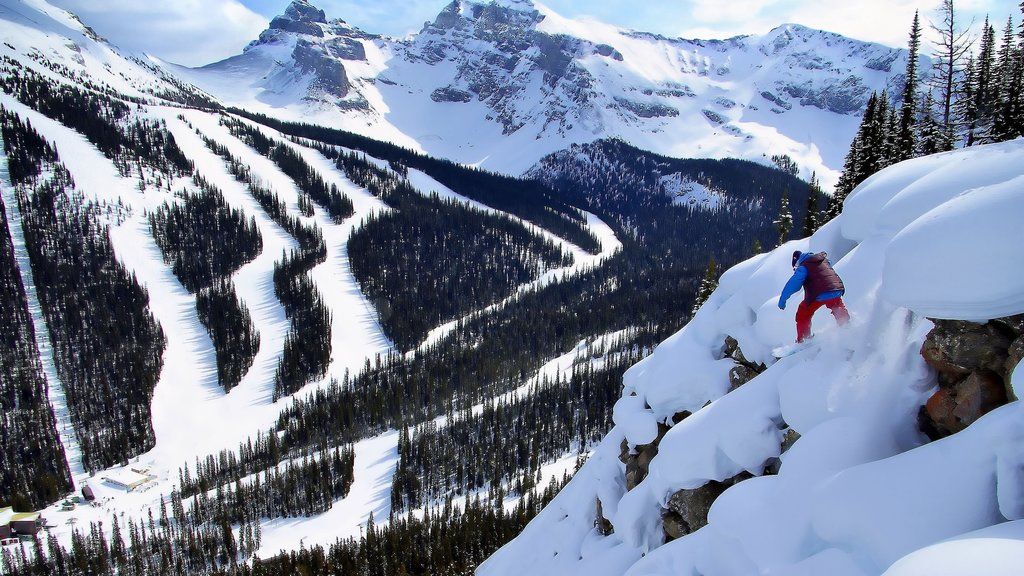 Sunshine Village showing views, snow boarding and landscape views