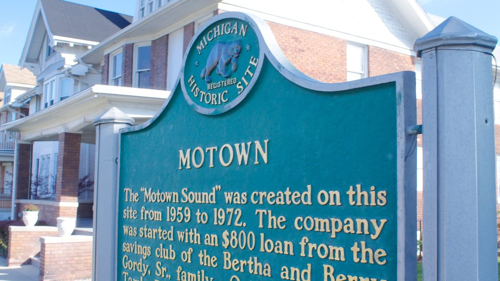 Motown Historical Museum featuring signage