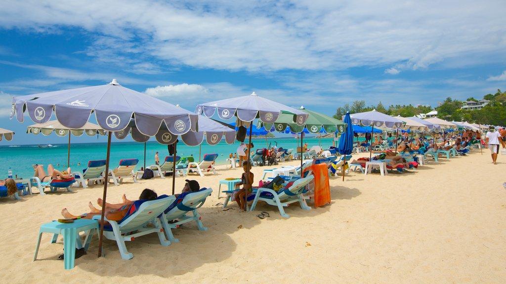 Kata Noi Beach featuring a sandy beach, tropical scenes and a coastal town