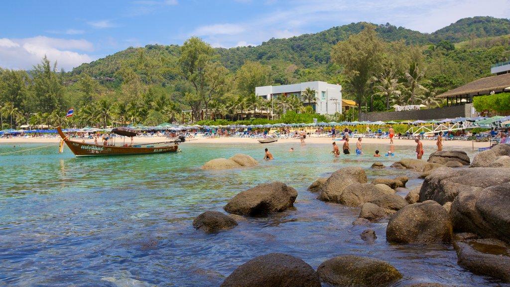 Kata Noi Beach which includes landscape views, tropical scenes and a sandy beach