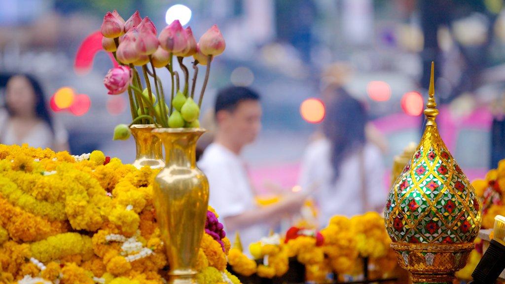 Erawan Shrine featuring flowers