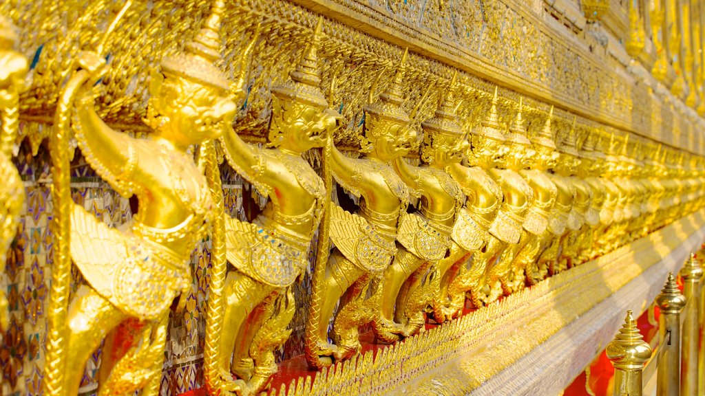 Temple of the Emerald Buddha featuring religious elements, interior views and a temple or place of worship