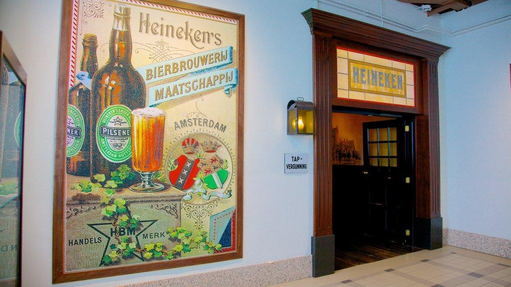 Heineken Experience featuring signage and interior views