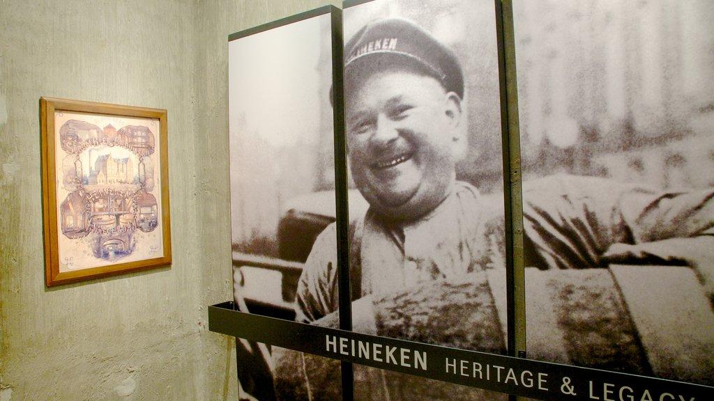 Heineken Experience showing interior views