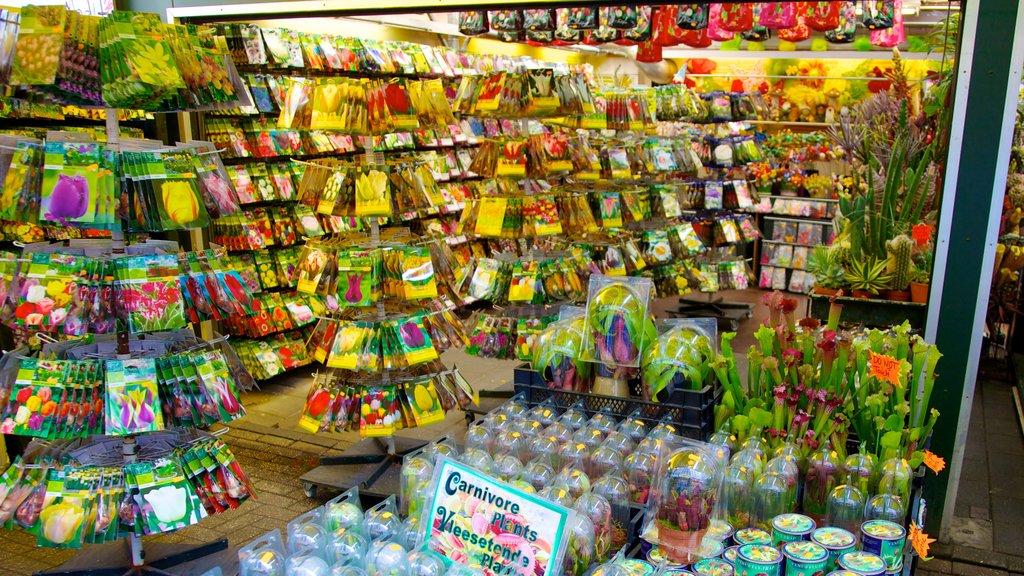 Mercado de las flores ofreciendo flores, mercados y vistas interiores