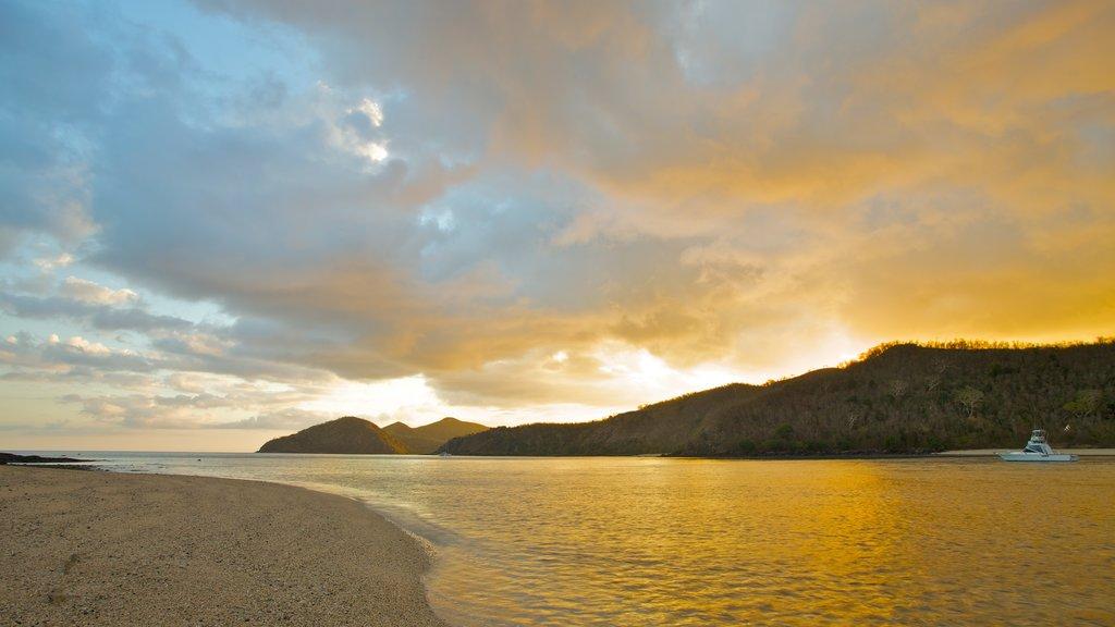 Nanuya Balavu Island which includes landscape views, island views and a sandy beach
