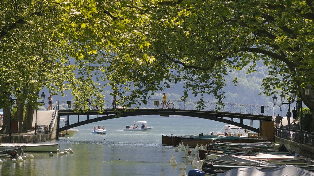 Annecy featuring landscape views, boating and a lake or waterhole