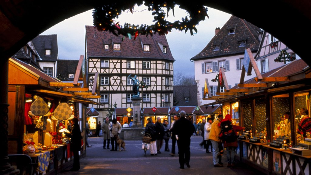 Colmar which includes heritage architecture, a city and street scenes