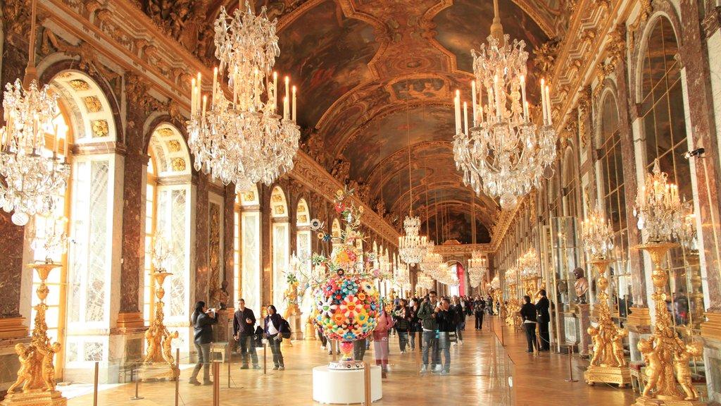 Versailles which includes interior views
