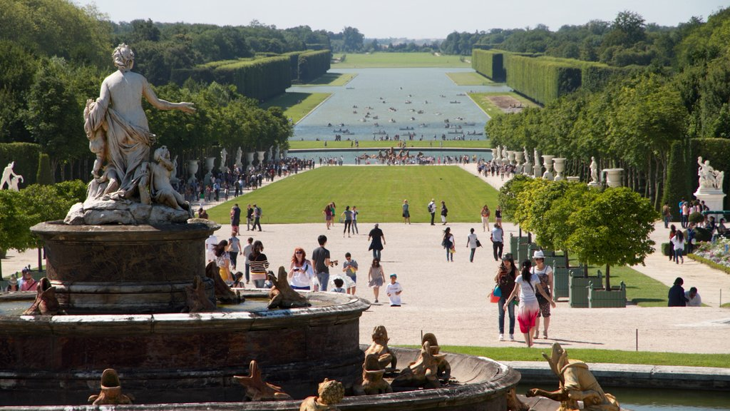 Versailles which includes a statue or sculpture, outdoor art and landscape views