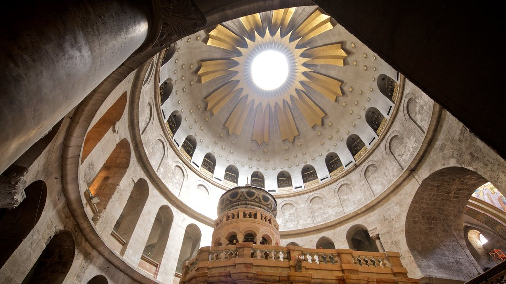 Church of the Holy Sepulchre showing interior views and heritage elements
