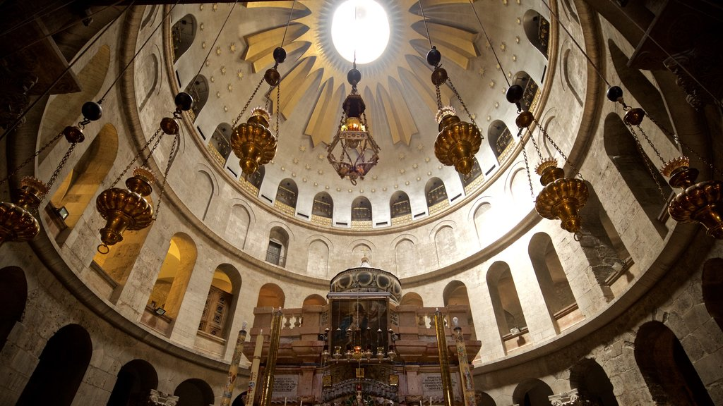 Church of the Holy Sepulchre showing heritage elements and interior views