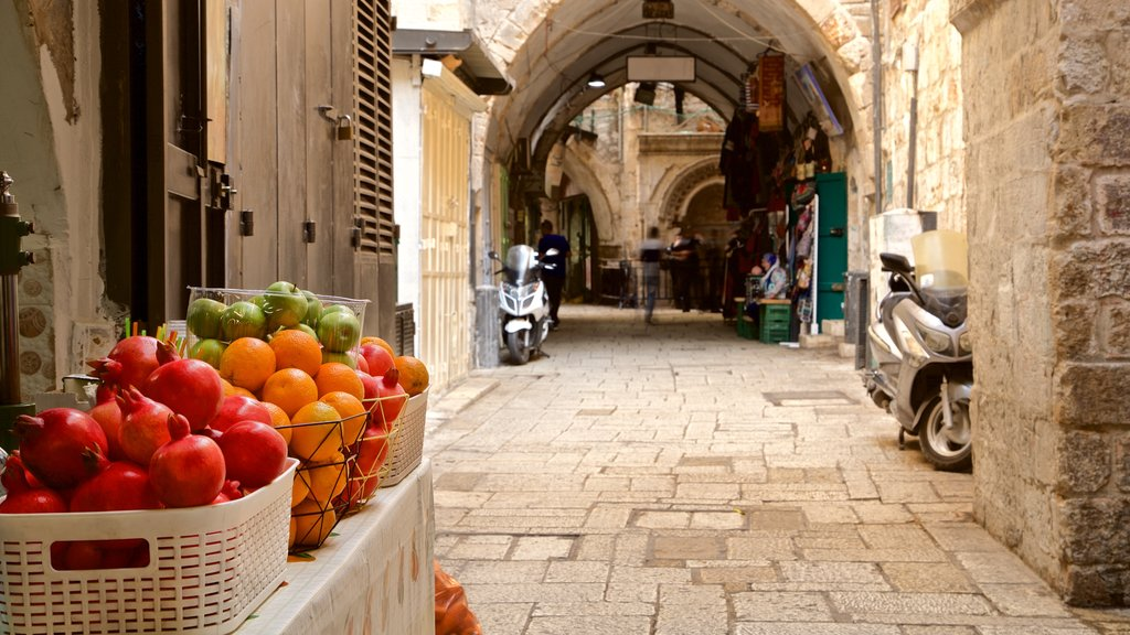 Jerusalem which includes markets and food