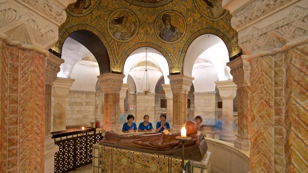 Dormition Abbey which includes heritage elements, a church or cathedral and interior views