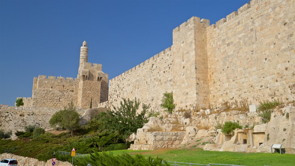 Tower of David Museum of the History of Jerusalem featuring heritage architecture