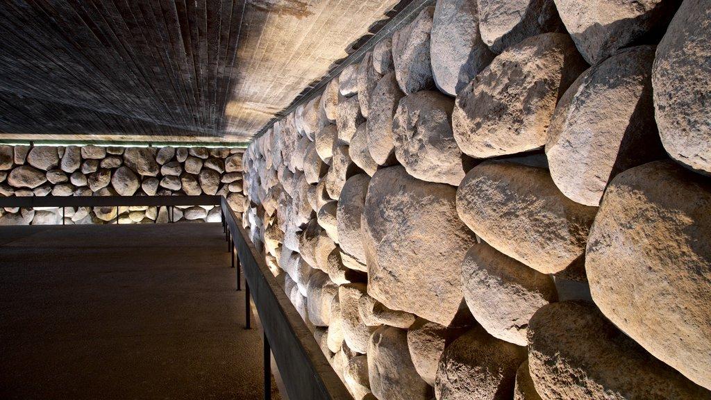 Yad Vashem que incluye vistas interiores