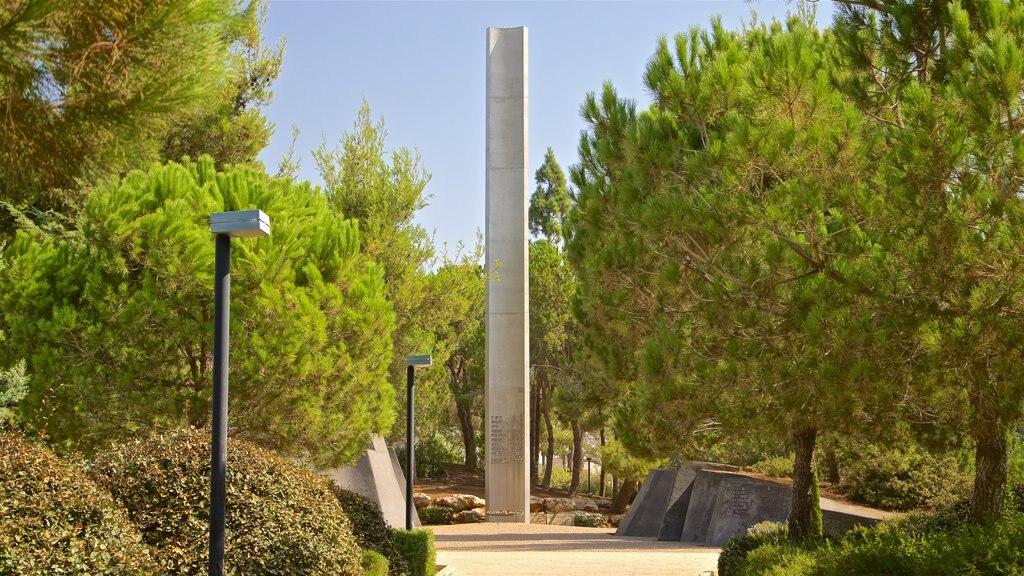Yad Vashem showing a garden