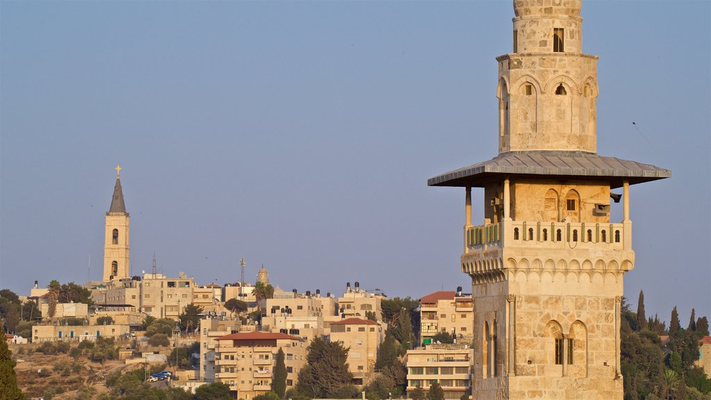 Jerusalem showing heritage architecture, a city and landscape views