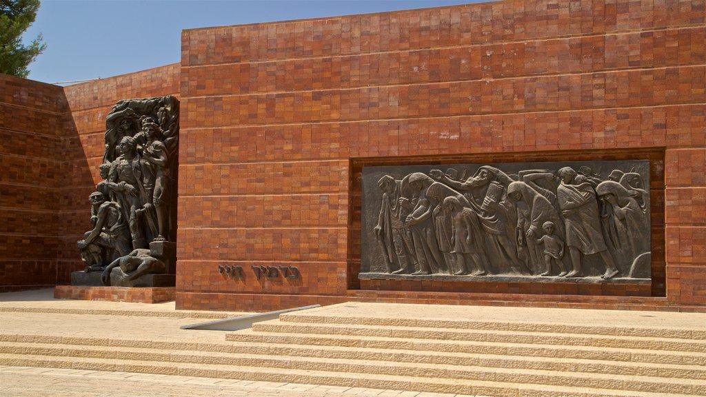 Yad Vashem ofreciendo arte al aire libre y elementos del patrimonio